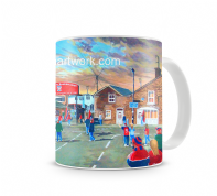 bootham crescent  going to the match  mug